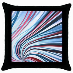 Wavy Stripes Background Throw Pillow Case (black) by Simbadda
