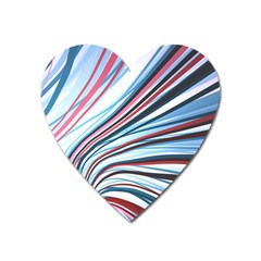Wavy Stripes Background Heart Magnet by Simbadda
