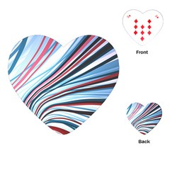 Wavy Stripes Background Playing Cards (heart)