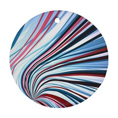 Wavy Stripes Background Round Ornament (two Sides) by Simbadda