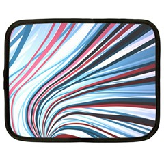 Wavy Stripes Background Netbook Case (large) by Simbadda