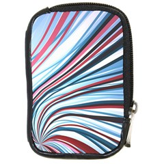 Wavy Stripes Background Compact Camera Cases by Simbadda