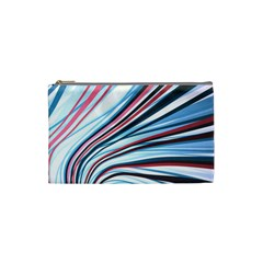 Wavy Stripes Background Cosmetic Bag (small)  by Simbadda
