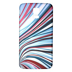 Wavy Stripes Background Samsung Galaxy S5 Back Case (white) by Simbadda