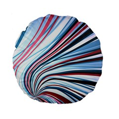 Wavy Stripes Background Standard 15  Premium Flano Round Cushions by Simbadda