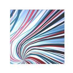 Wavy Stripes Background Small Satin Scarf (square)