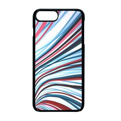 Wavy Stripes Background Apple Iphone 7 Plus Seamless Case (black)