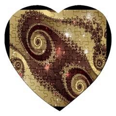 Space Fractal Abstraction Digital Computer Graphic Jigsaw Puzzle (heart) by Simbadda