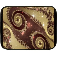 Space Fractal Abstraction Digital Computer Graphic Double Sided Fleece Blanket (mini)