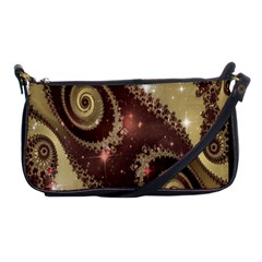 Space Fractal Abstraction Digital Computer Graphic Shoulder Clutch Bags by Simbadda