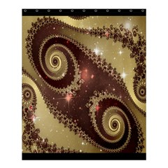 Space Fractal Abstraction Digital Computer Graphic Shower Curtain 60  X 72  (medium)