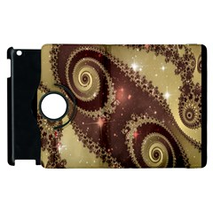 Space Fractal Abstraction Digital Computer Graphic Apple Ipad 3/4 Flip 360 Case by Simbadda
