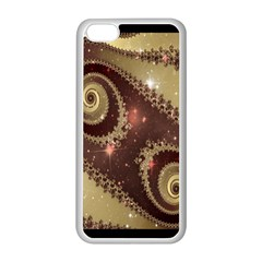 Space Fractal Abstraction Digital Computer Graphic Apple Iphone 5c Seamless Case (white) by Simbadda