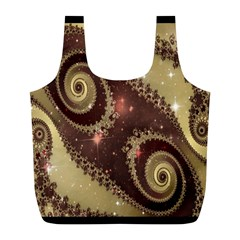 Space Fractal Abstraction Digital Computer Graphic Full Print Recycle Bags (l)  by Simbadda