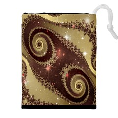 Space Fractal Abstraction Digital Computer Graphic Drawstring Pouches (xxl)