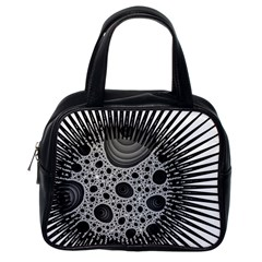 Fractal Background Black Manga Rays Classic Handbags (one Side) by Simbadda