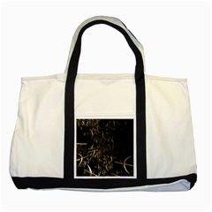 Golden Bows And Arrows On Black Two Tone Tote Bag by Simbadda