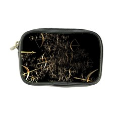 Golden Bows And Arrows On Black Coin Purse by Simbadda