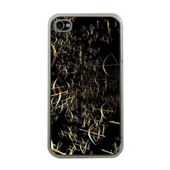 Golden Bows And Arrows On Black Apple Iphone 4 Case (clear) by Simbadda