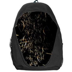 Golden Bows And Arrows On Black Backpack Bag by Simbadda