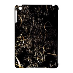 Golden Bows And Arrows On Black Apple Ipad Mini Hardshell Case (compatible With Smart Cover)