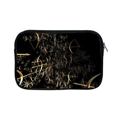 Golden Bows And Arrows On Black Apple Ipad Mini Zipper Cases by Simbadda