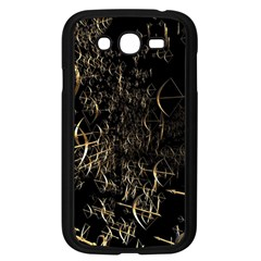Golden Bows And Arrows On Black Samsung Galaxy Grand Duos I9082 Case (black) by Simbadda