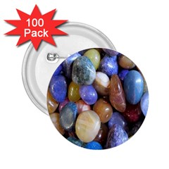 Rock Tumbler Used To Polish A Collection Of Small Colorful Pebbles 2 25  Buttons (100 Pack)  by Simbadda