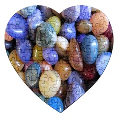 Rock Tumbler Used To Polish A Collection Of Small Colorful Pebbles Jigsaw Puzzle (heart) by Simbadda