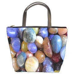 Rock Tumbler Used To Polish A Collection Of Small Colorful Pebbles Bucket Bags
