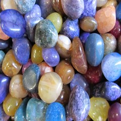 Rock Tumbler Used To Polish A Collection Of Small Colorful Pebbles Magic Photo Cubes by Simbadda