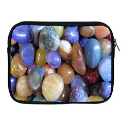 Rock Tumbler Used To Polish A Collection Of Small Colorful Pebbles Apple Ipad 2/3/4 Zipper Cases by Simbadda