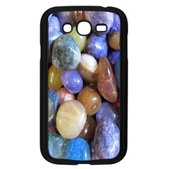 Rock Tumbler Used To Polish A Collection Of Small Colorful Pebbles Samsung Galaxy Grand Duos I9082 Case (black) by Simbadda
