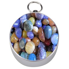 Rock Tumbler Used To Polish A Collection Of Small Colorful Pebbles Silver Compasses by Simbadda
