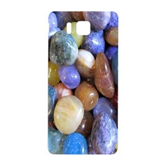 Rock Tumbler Used To Polish A Collection Of Small Colorful Pebbles Samsung Galaxy Alpha Hardshell Back Case by Simbadda