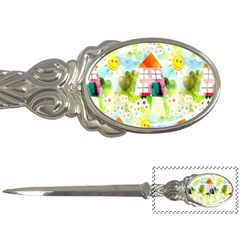 Summer House And Garden A Completely Seamless Tile Able Background Letter Openers by Simbadda