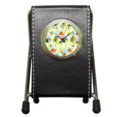Summer House And Garden A Completely Seamless Tile Able Background Pen Holder Desk Clocks