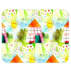 Summer House And Garden A Completely Seamless Tile Able Background Double Sided Flano Blanket (medium)  by Simbadda