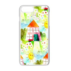 Summer House And Garden A Completely Seamless Tile Able Background Apple Iphone 7 Plus White Seamless Case