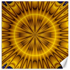 Fractal Yellow Kaleidoscope Lyapunov Canvas 20  X 20   by Simbadda