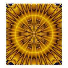 Fractal Yellow Kaleidoscope Lyapunov Shower Curtain 66  X 72  (large)