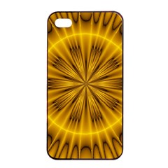Fractal Yellow Kaleidoscope Lyapunov Apple Iphone 4/4s Seamless Case (black) by Simbadda
