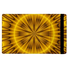 Fractal Yellow Kaleidoscope Lyapunov Apple Ipad 3/4 Flip Case by Simbadda