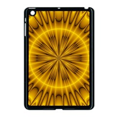 Fractal Yellow Kaleidoscope Lyapunov Apple Ipad Mini Case (black) by Simbadda