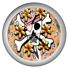 Banner Header Tapete Wall Clocks (silver)