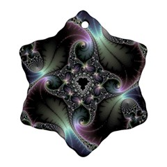 Precious Spiral Wallpaper Snowflake Ornament (two Sides)