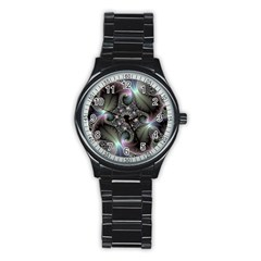Precious Spiral Wallpaper Stainless Steel Round Watch by Simbadda