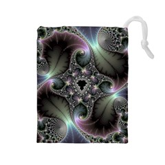 Precious Spiral Wallpaper Drawstring Pouches (large)  by Simbadda