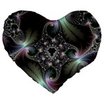 Precious Spiral Wallpaper Large 19  Premium Flano Heart Shape Cushions Front