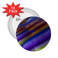 Fractal Color Stripes 2 25  Buttons (10 Pack)  by Simbadda